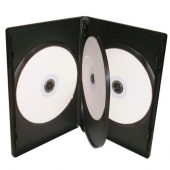 4 Way DVD Case 4 Disc Black x 100 Cases