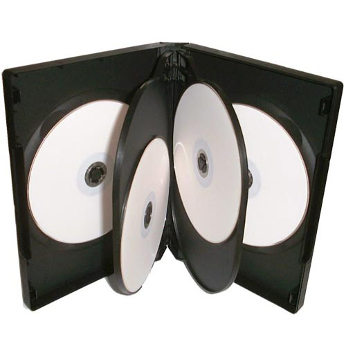 6 Way DVD Case 6 Disc Black x 100 Cases