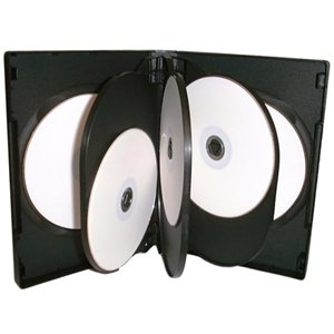 8 Way DVD Case 8 Disc Black x 50 Cases