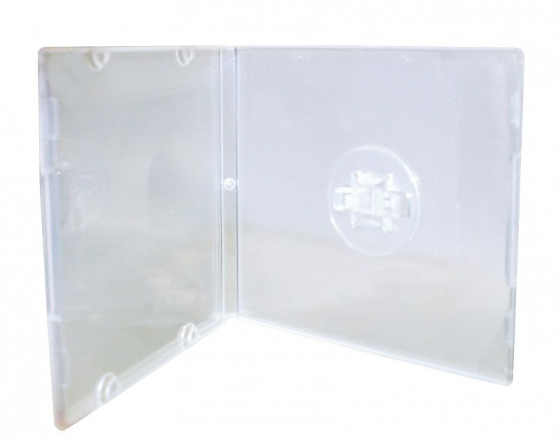 Trimpac CD/DVD/Blu-ray 8cm Square Clam Shell Clear 50 Cases