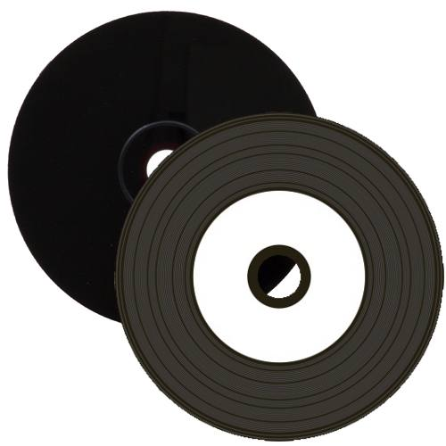 Media Range Vinyl CD-r Black Dye Inkjet Printable 50 Discs