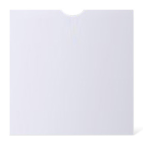 White card wallet with thumb cut CD/DVD Wallet x 50