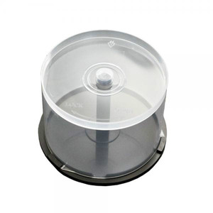 Clear Plastic Cake Tub (Holds 50 Discs) x 10