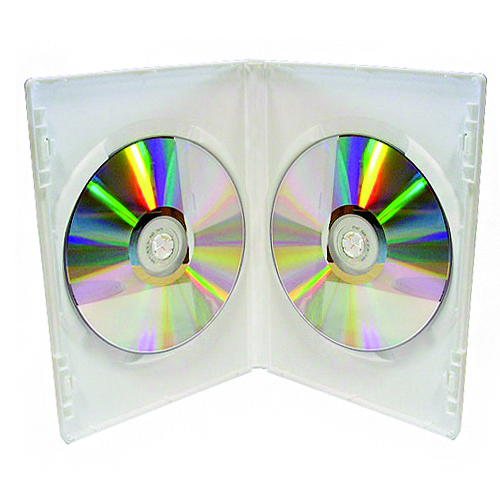 Double DVD Case White machine packable 10 Cases