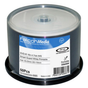 Falcon Smart Guard Professional DVD-R White Inkjet Printable 300