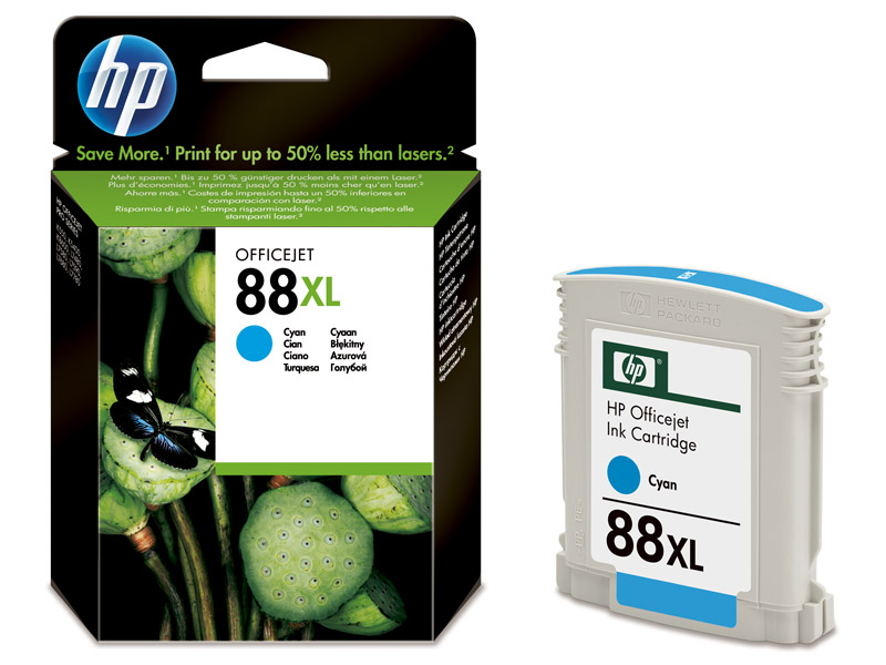 HP 88XL Cyan Ink - HP88 C9391AE