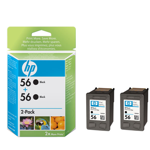 R-Quest Flashjet Black Ink - HP56 C9502AE Twin pack