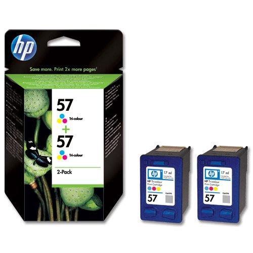 R-Quest Flashjet Tri-colour Ink - HP57 C9503AE Twin pack