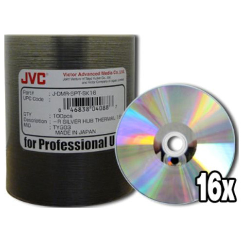 JVC DVD-R Everest Thermal Printable Silver (4.7Gb/120Min) x 100