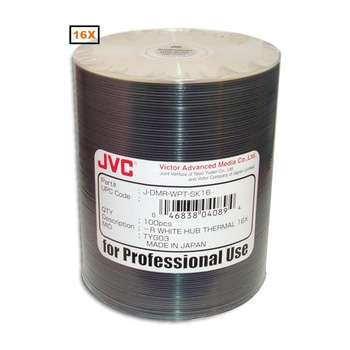 JVC DVD-R Everest Thermal Printable White (4.7Gb/120Min) x 100