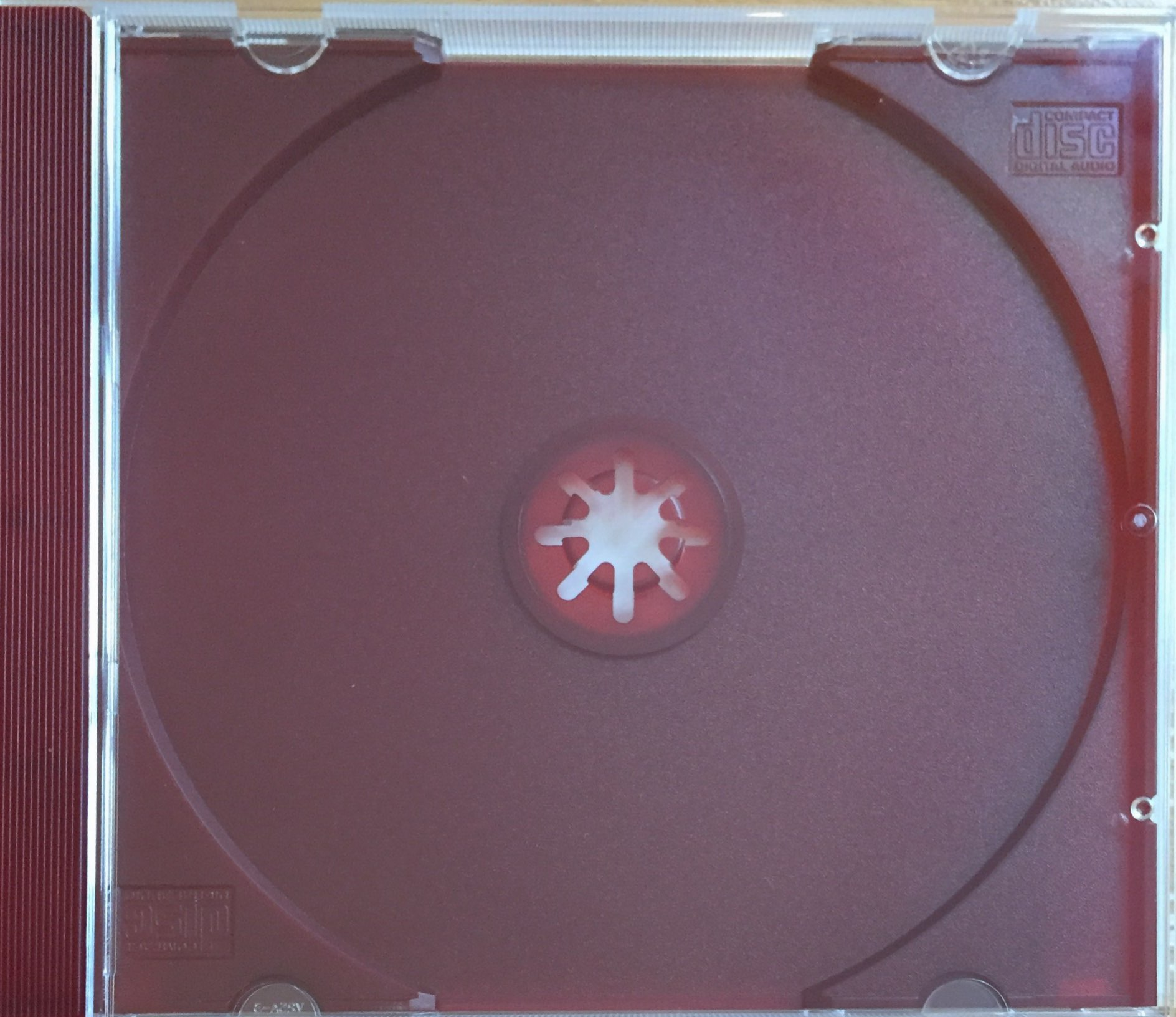 CD Jewel Case Clear with Red Tray Assembled 25 Cases