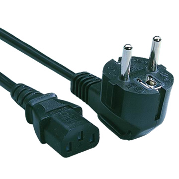 Power lead EURO Schuko Plug to IEC Cable (kettle style cord) C13
