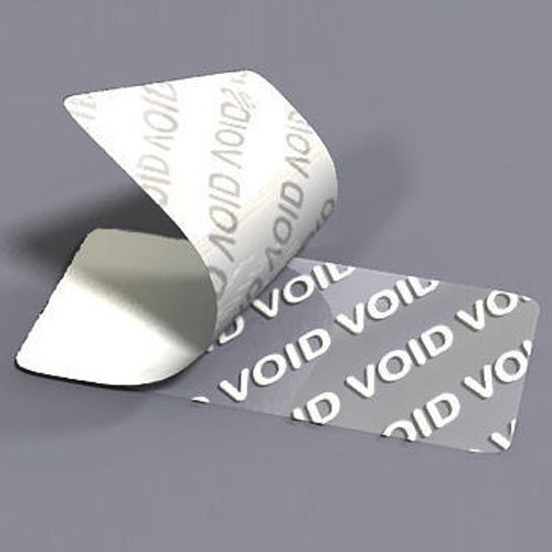Silver Void Labels x 1000 35 x 35 mm