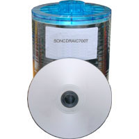 Sony CD-R Inkjet Printable Silver Clear (700Mb/80Min) 100 Discs