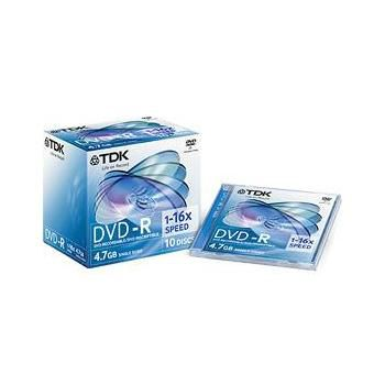 TDK DVD-R in Jewel Cases 4.7Gb 10 Discs
