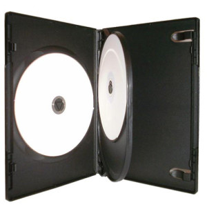 Triple DVD Case 3 Disc Black x 100 Cases