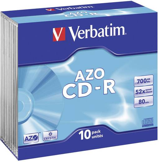 Verbatim CD-R Slim Crystal Cased x 10