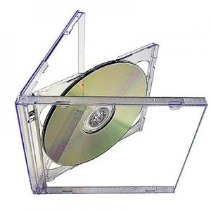 Double CD Jewel Case with Clear Tray machine packable 200 Cases