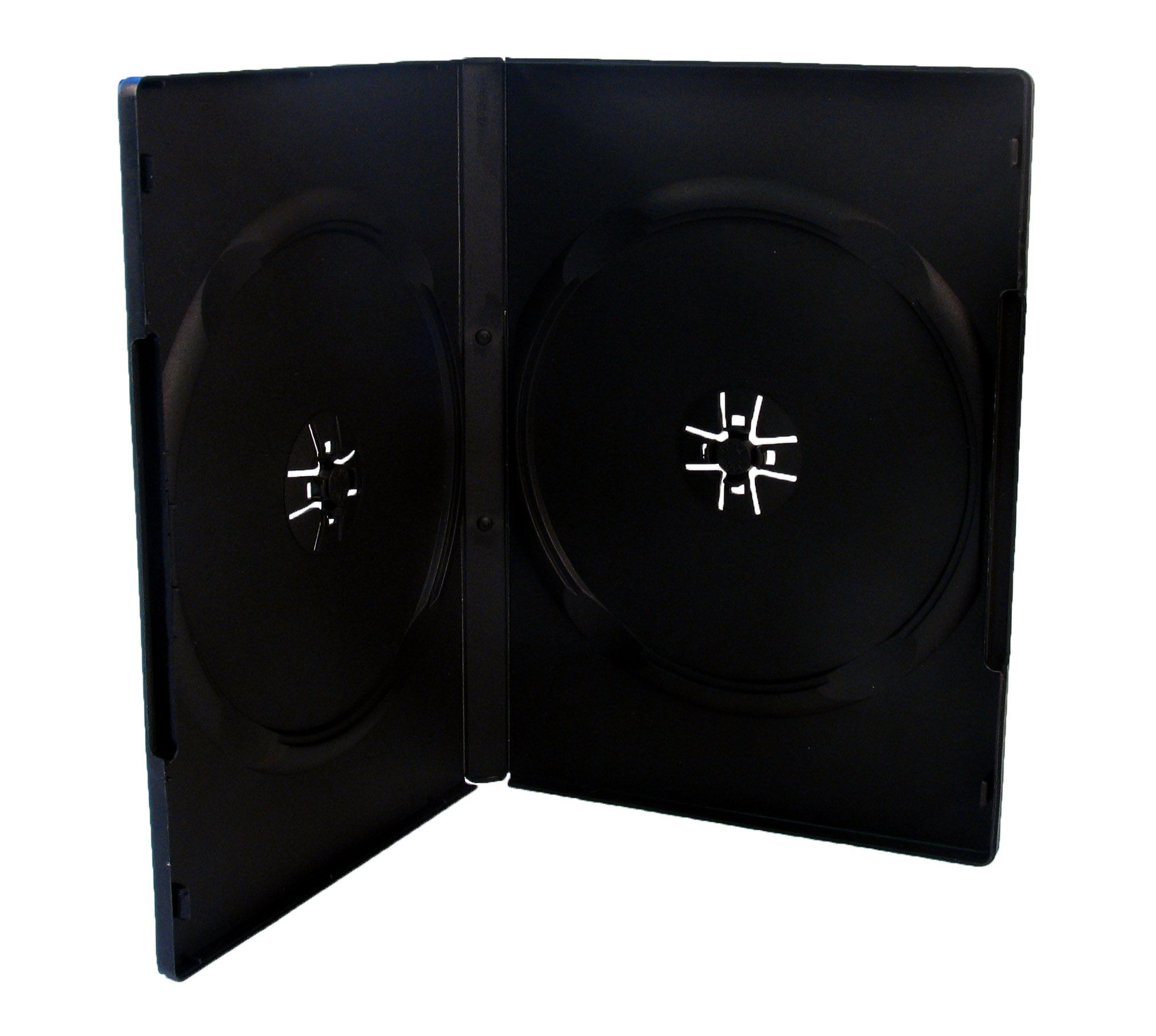 Black Double DVD Case 14mm Amaray Style Economy x 10 Economy Cas