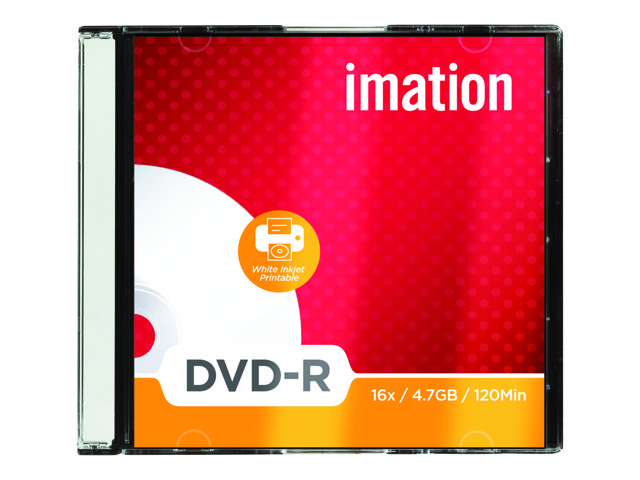 Imation White Inkjet Printable White 4.7Gb DVD-R 10 discs
