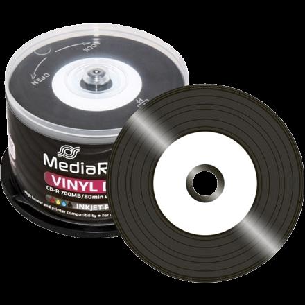 media range vinyl cd r black dye inkjet printable 50 discs opti. Black Bedroom Furniture Sets. Home Design Ideas