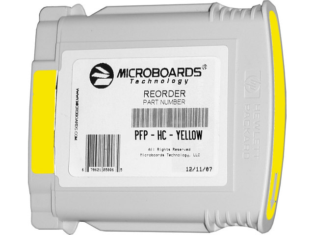 Microboards PF-PRO / MX1 / MX2 - YELLOW Ink - PFP-HC-Yellow