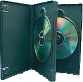 3 Way Triple DVD Case 3 Disc Black machine packable x 72  Cases