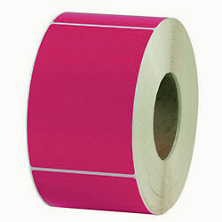 "4"" X 6"" Labels on Rolls, 3"" Core, Pink x 500"