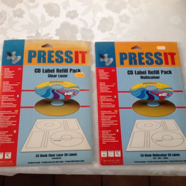 PressIt CD Label refill pack
