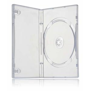 Single DVD Case Clear Coral 14mm machine packable 100 Cases
