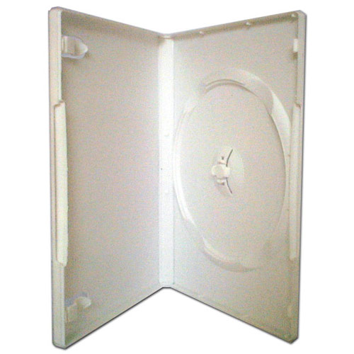 Single DVD Case White machine packable x 10 Cases