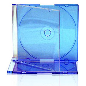 Slim Jewel Case with Blue Tray 5.2mm 200 Cases