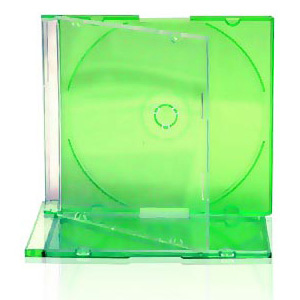 Slim Jewel Case with Green Tray 5.2mm 200 Cases