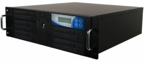 "Thunder 1:6 duplicator with 5 DVD/CD-writer for 19"" rack mount"