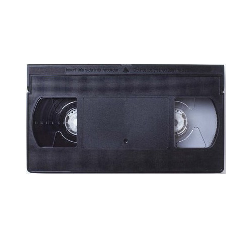 VHS tape professional back coated BASF E30